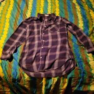 Levi's Navy Blue/Gray Flannel Button Down